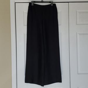 CHANEL black high rise black wide leg trousers 40
